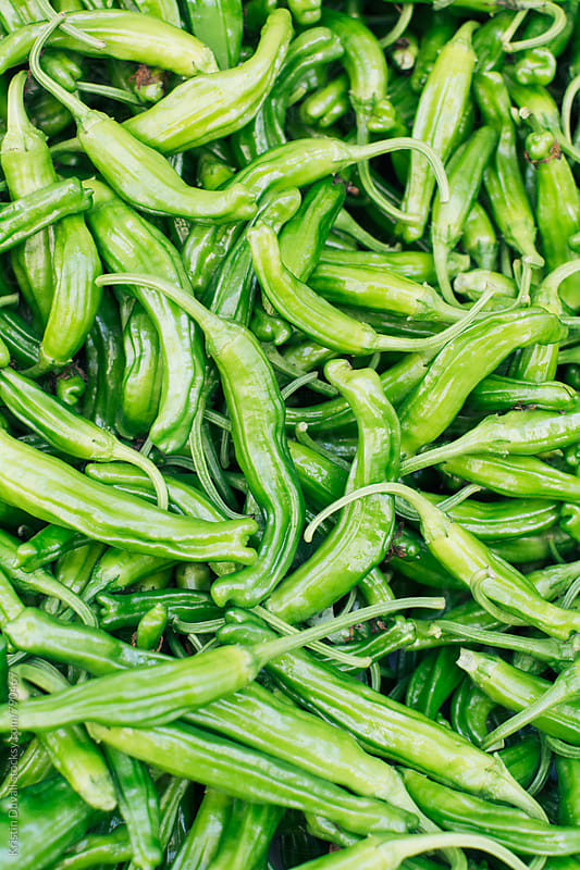 Shishito peppers by Kristin Duvall for Stocksy United