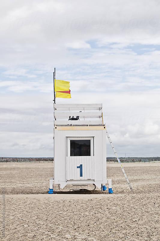 Watchtower at a German beach by Melanie Kintz for Stocksy United