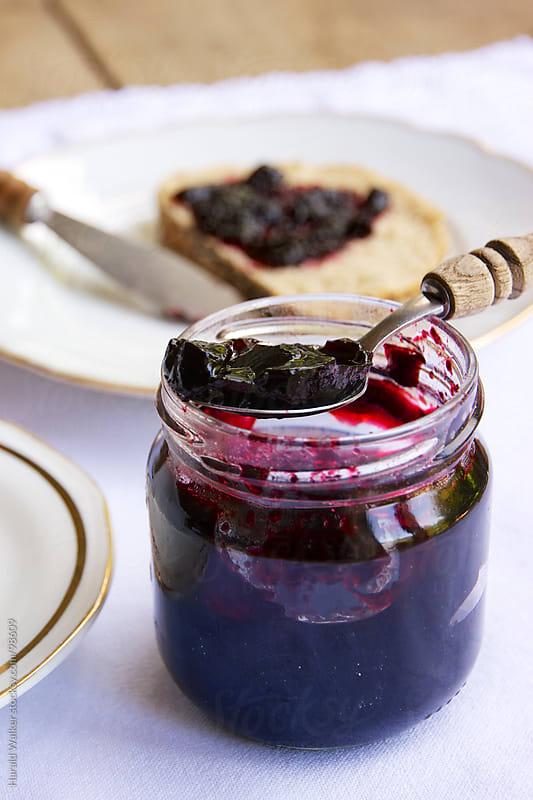 Elderberry jam by Harald Walker for Stocksy United