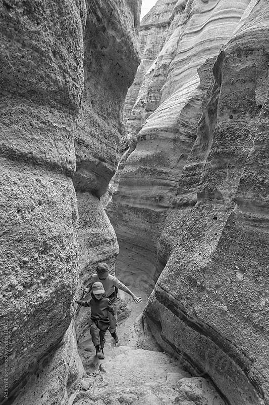 Hikers, Kasha-Katuwe Tent Rocks National Monument by Adam Nixon for Stocksy United