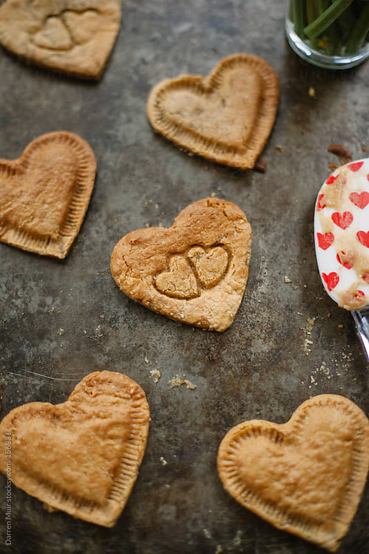 Love heart cookies. by Darren Muir for Stocksy United