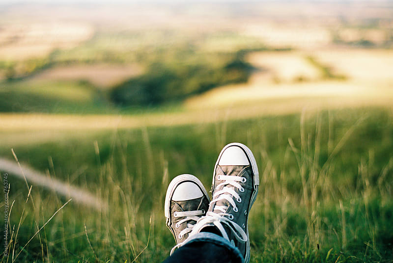 Shoes and a view by Kirstin Mckee for Stocksy United