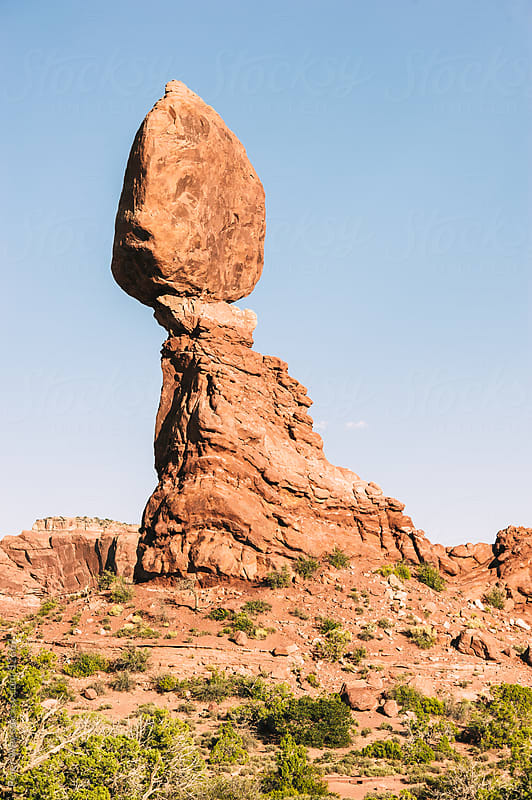 Balanced Rock in Arches National Park, Utah, USA by Peter Wey for Stocksy United