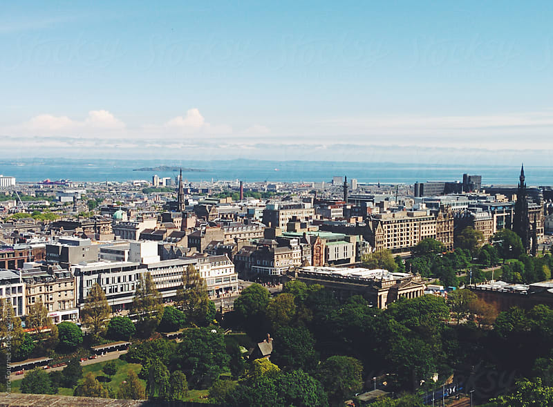 Scenic View of Edinburgh by Marc Fournet for Stocksy United
