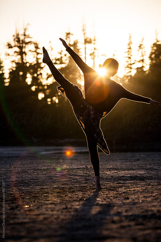 Dancing at Sunset by Michael Overbeck Photography for Stocksy United