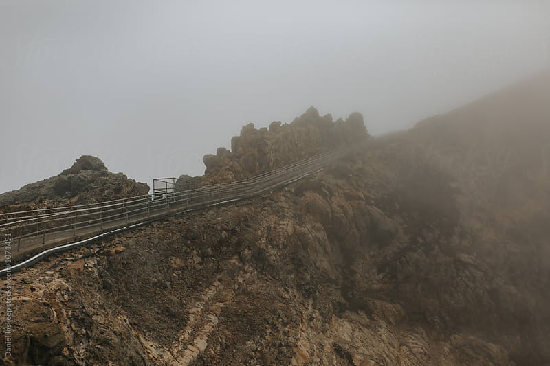 Stairway into the Fog by Daniel Inskeep for Stocksy United