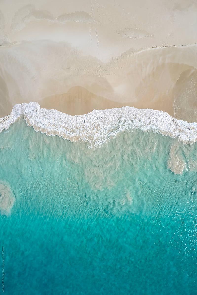 Beach shore aerial