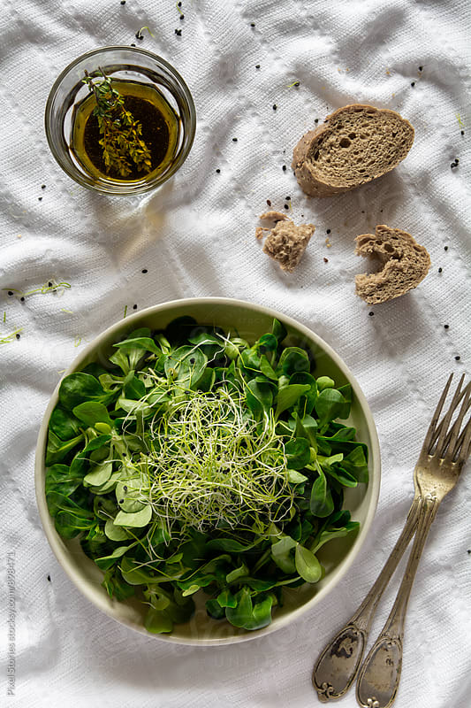 Microgreen salad by Pixel Stories for Stocksy United