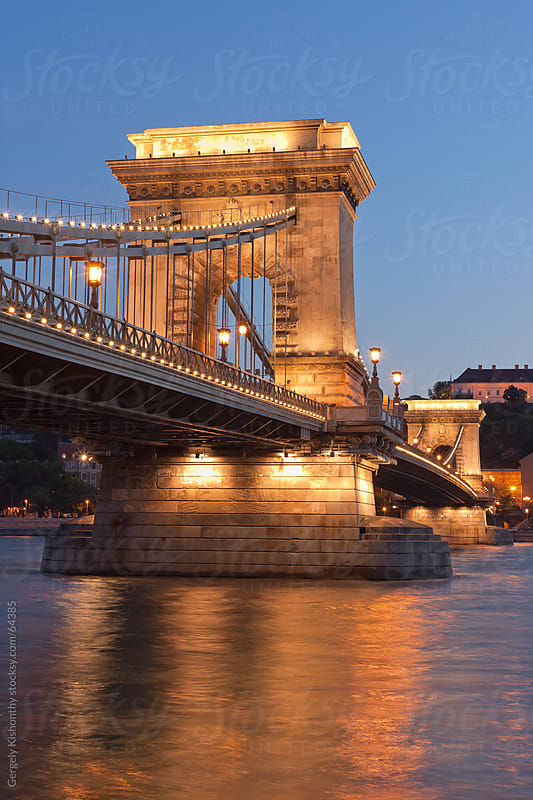 The beautiful historic Chain bridge. by Gergely Kishonthy for Stocksy United