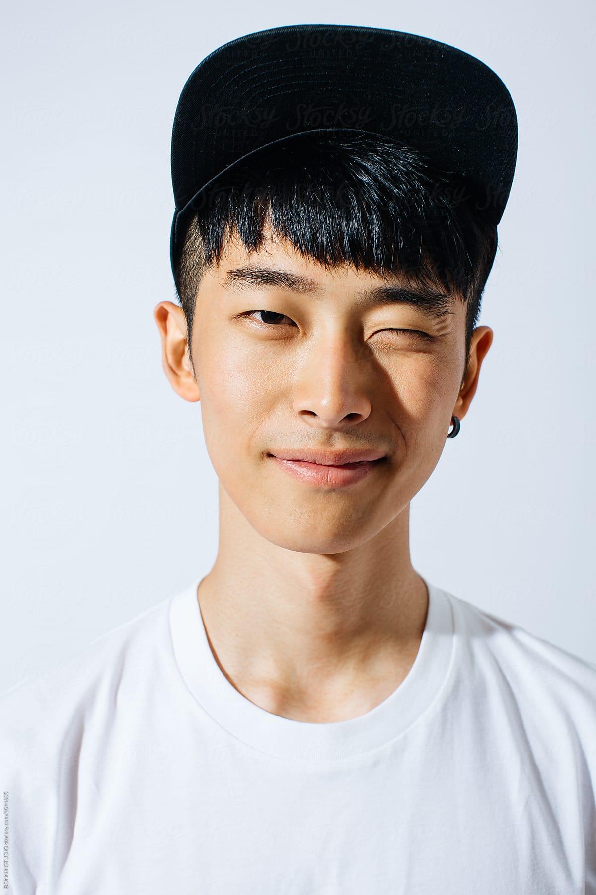 Asian man man white