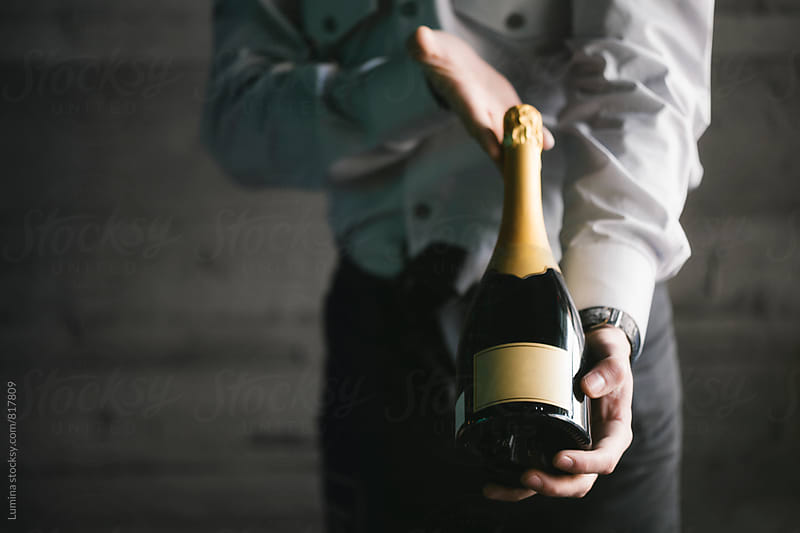 Bottle of Champagne by Lumina for Stocksy United