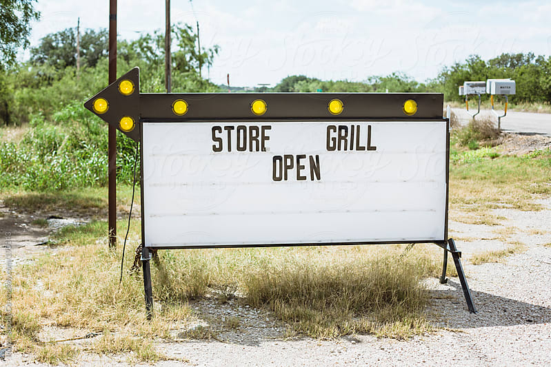 store grill open sign by Image Supply Co for Stocksy United