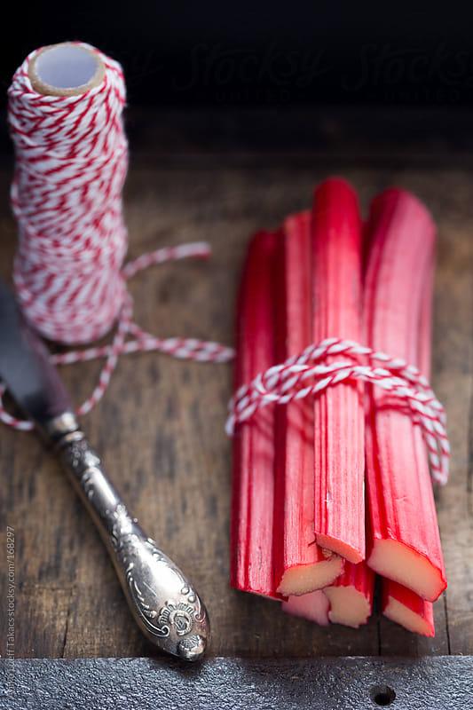 Yorkshire rhubarb stalks  by Aniko Lueff Takacs for Stocksy United