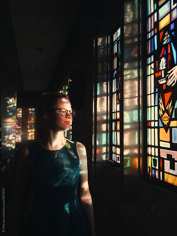 A Girl in a Church by B. Harvey for Stocksy United