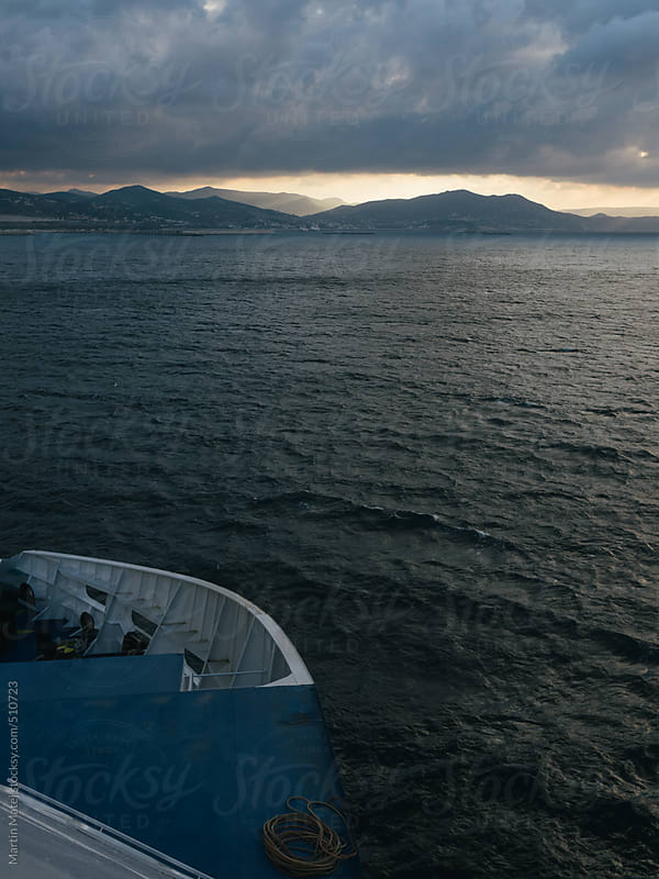Ferry heading to Morocco by Martin Matej for Stocksy United