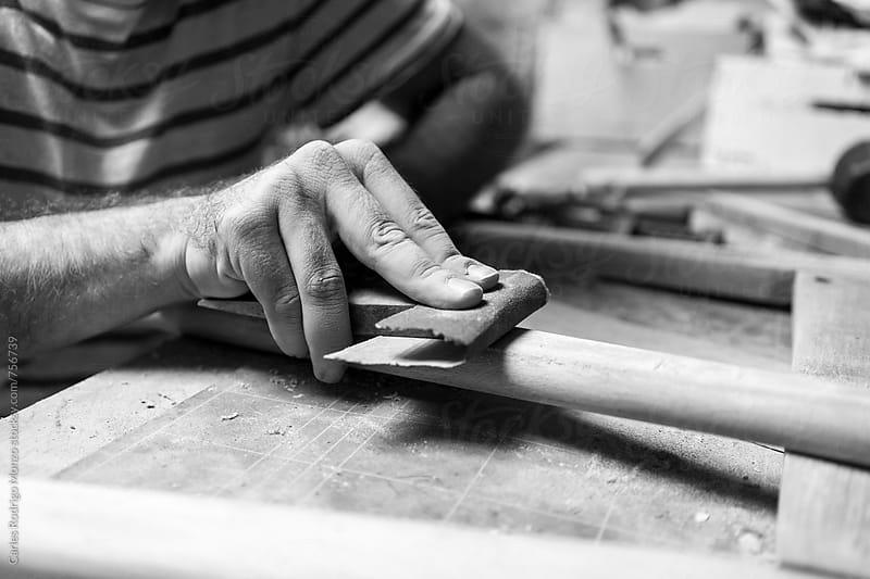 Craftsman working by Carles Rodrigo Monzo for Stocksy United