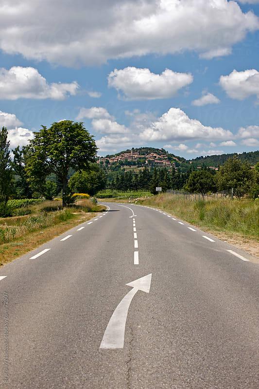 Road to Regusse, small village in France by Bratislav Nadezdic for Stocksy United