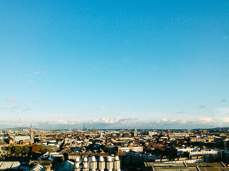 Dublin City Areal View by HEX. for Stocksy United