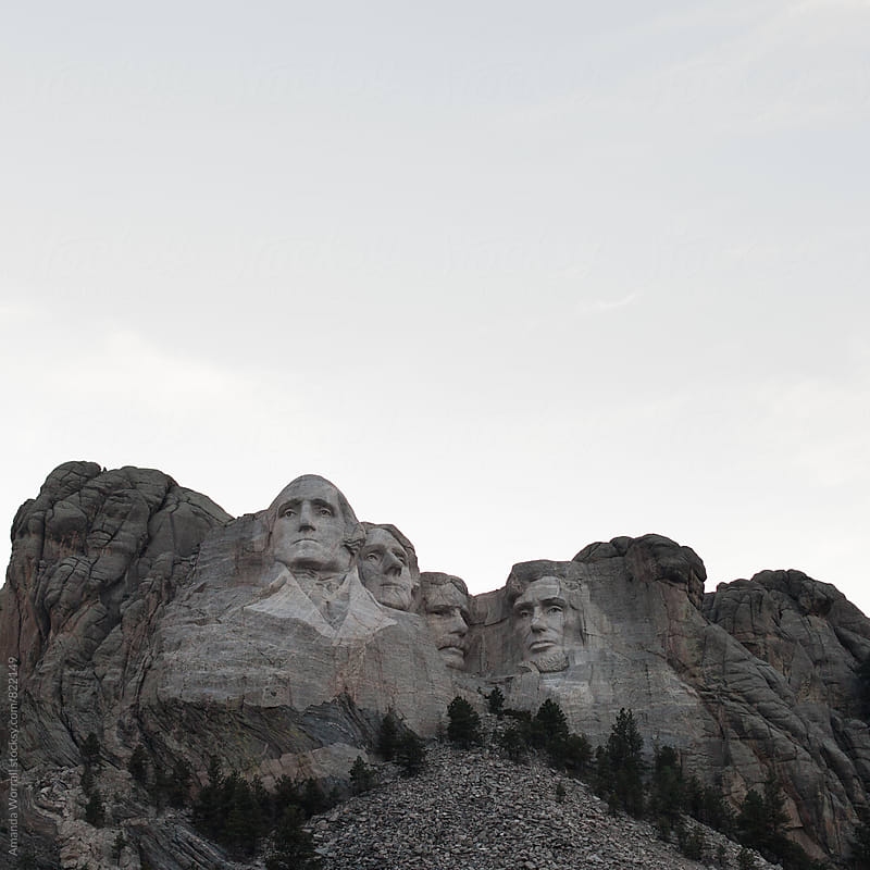 Mt. Rushmore on an overcast day by Amanda Worrall for Stocksy United
