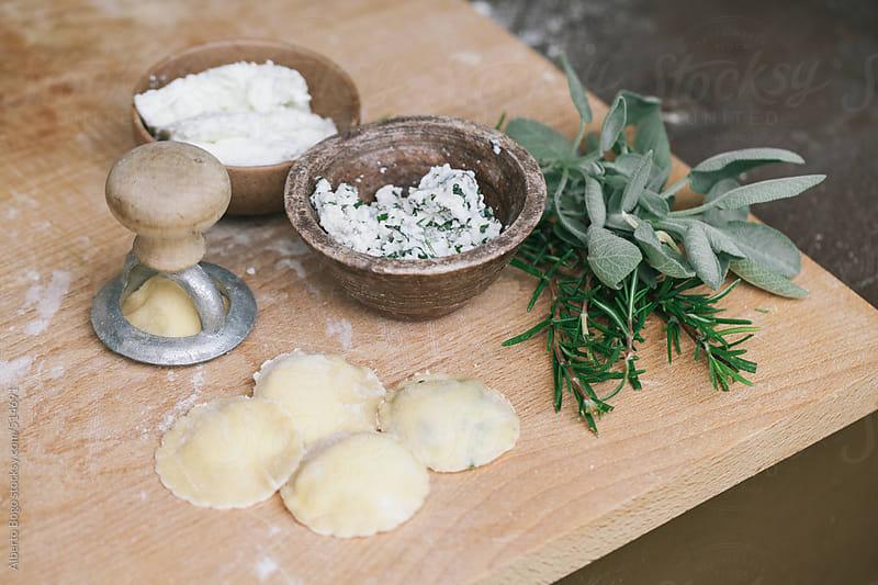 Italian ravioli with herbs by Alberto Bogo for Stocksy United