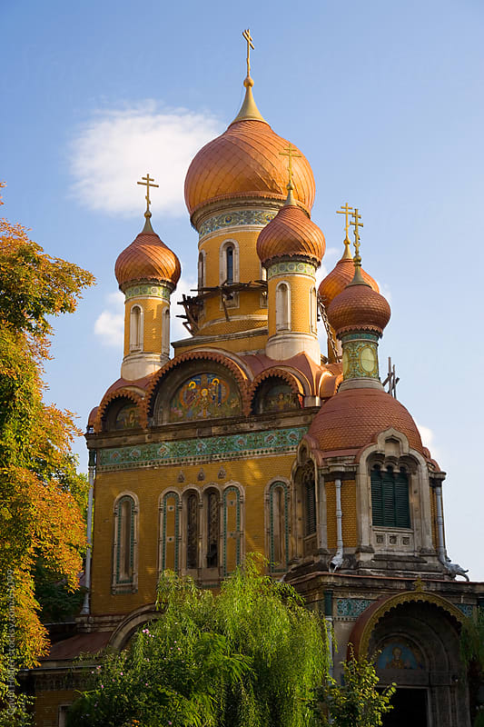 Europe, Romania, Bucharest, Orthodox Student Church in the centre of Bucharest by Gavin Hellier for Stocksy United