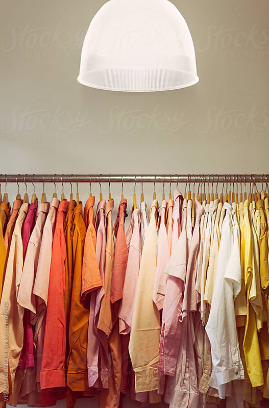 A Clothing Rack With Many Shirts by VISUALSPECTRUM for Stocksy United