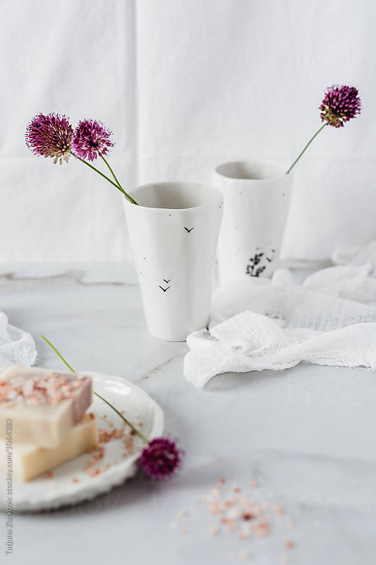Flowers with natural soap by Tatjana Ristanic for Stocksy United