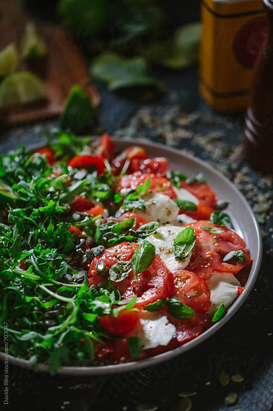 Caprese Salad by Davide Illini for Stocksy United