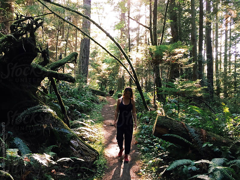Walking Through the Forest by Jesse Weinberg for Stocksy United