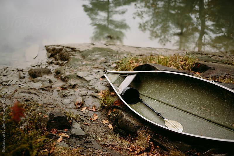Row Boat On Rainy Day by Brad & Jen for Stocksy United
