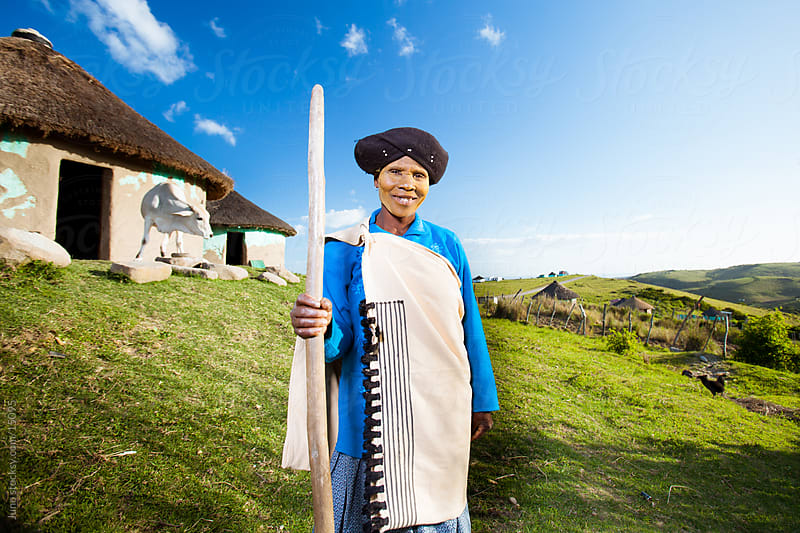 Rural African Xhosa Woman by Micky Wiswedel for Stocksy United