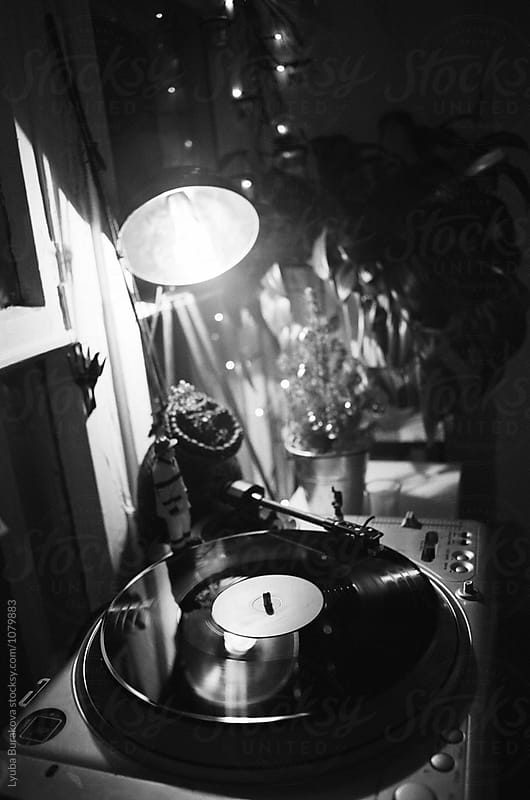 Vinyl in black and white by Liubov Burakova for Stocksy United
