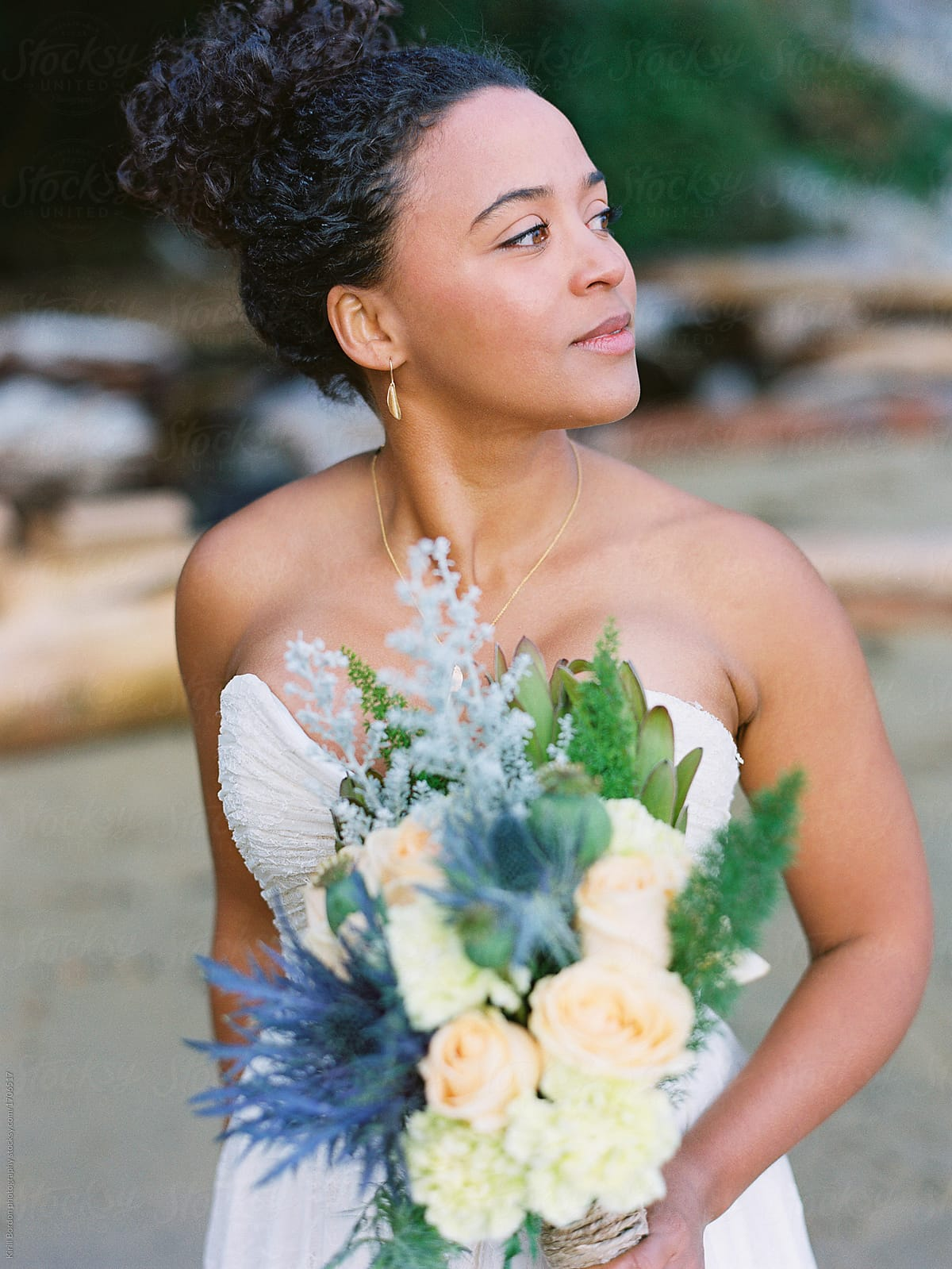 Bride with floral crown stocksy united bride with floral crown by kirill bordon photography for stocksy united izmirmasajfo