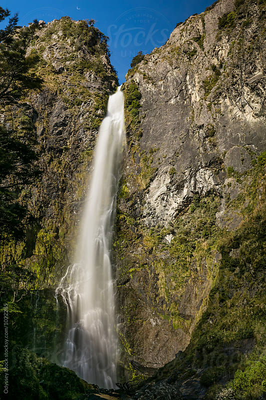 Cascading Waterfall in Rainforest by Odyssey Stock for Stocksy United