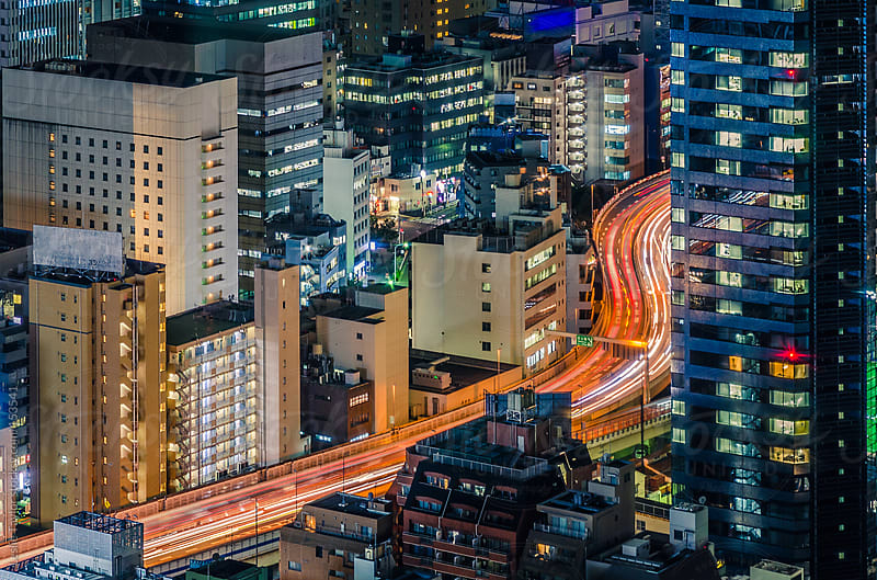 Snaking Through Tokyo by Leslie Taylor for Stocksy United