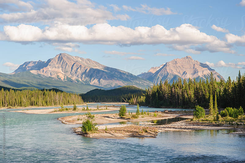 Jasper National Park: Athabasca River by Peter Wey for Stocksy United