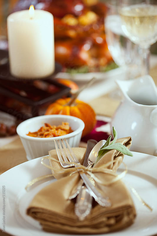 Thanksgiving: Autumn Place Setting For Thanksgiving by Sean Locke for Stocksy United