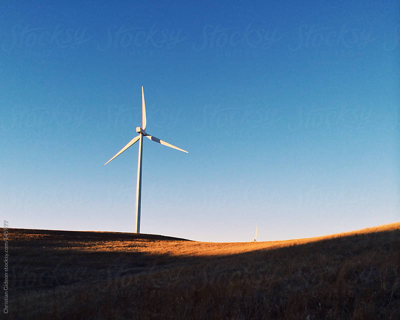 Wind Turbine in Kansas by Christian Gideon for Stocksy United