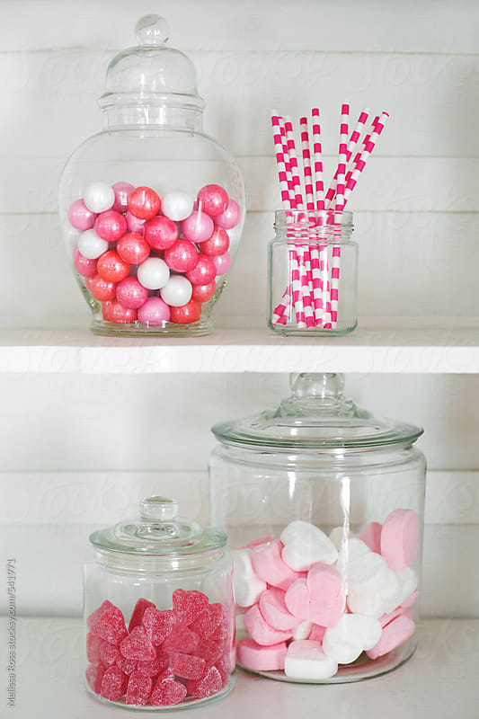 Old fashioned candy jars. by Melissa Ross for Stocksy United