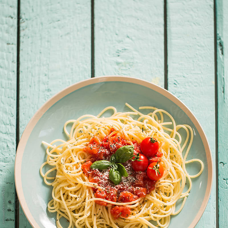 Spaghetti With Tomato Sauce by Lumina for Stocksy United