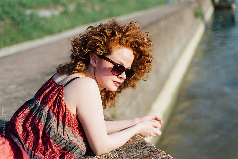 Portrait of beautiful smiling ginger woman by Kate & Mary for Stocksy United