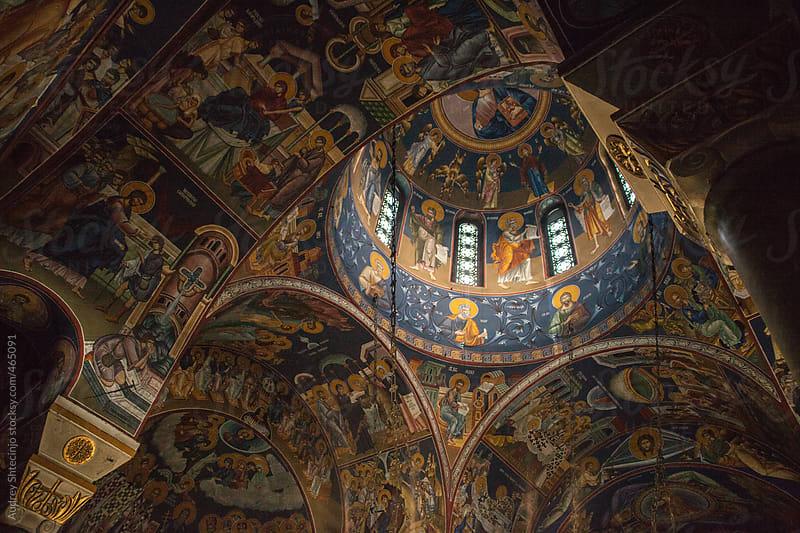 Ortodox church colorful fresco. by Audrey Shtecinjo for Stocksy United