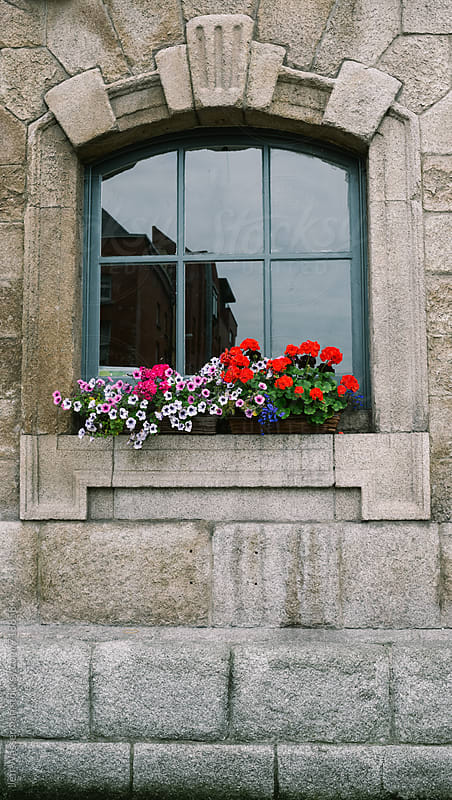 Ancient Window with Flowers by Jeff Wasserman for Stocksy United