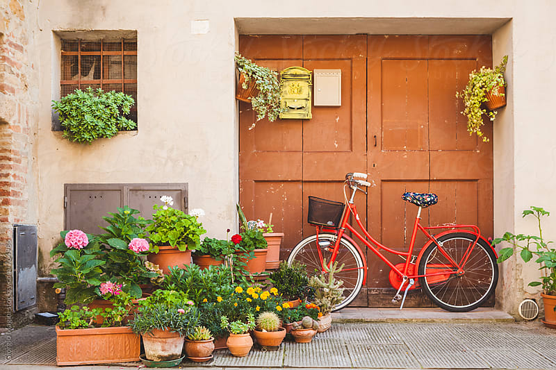 Wooden Gate and Bicycle in a Small Italian Town by Giorgio Magini for Stocksy United