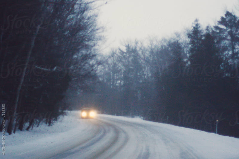 Snowy Winter Road In Northern Michigan by ALICIA BOCK for Stocksy United