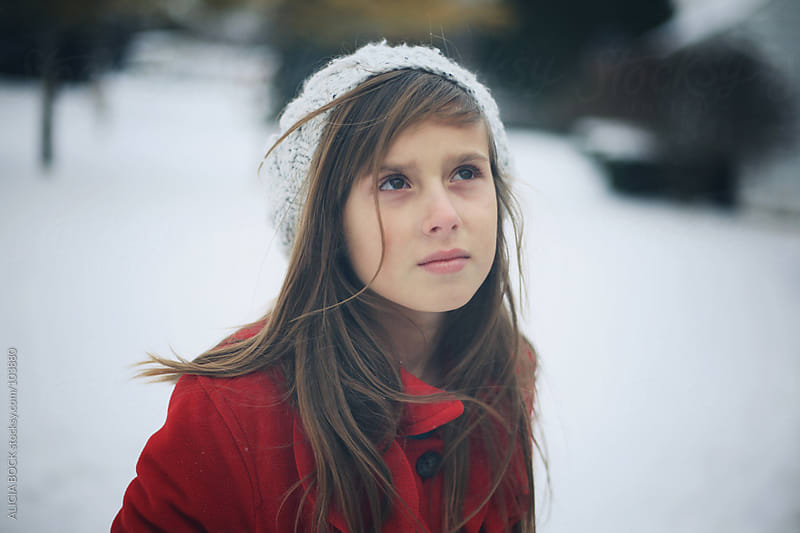 Red Coat In The Snow by ALICIA BOCK for Stocksy United