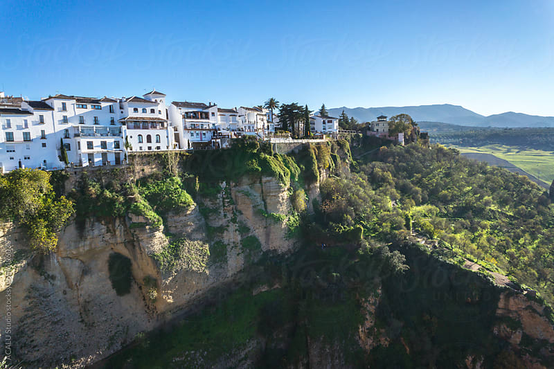 Houses on the edge of the precipice in Ronda  by ACALU Studio for Stocksy United