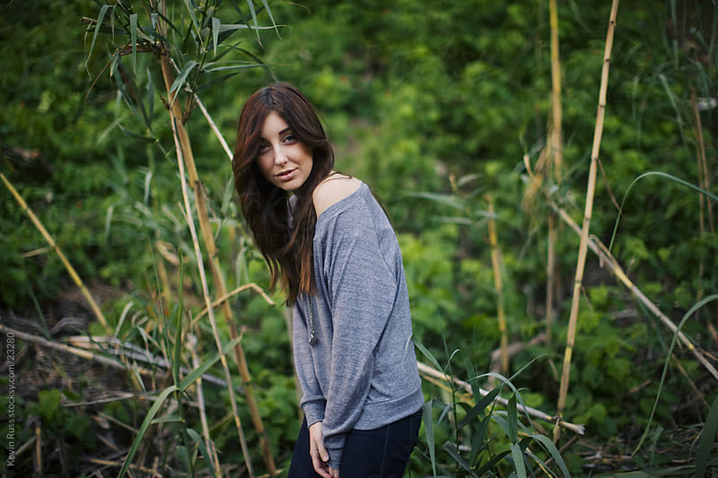Green Nature Woman by Kevin Russ for Stocksy United