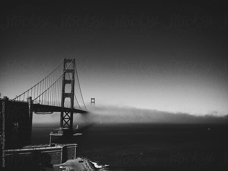 Golden Gate Bridge in fog by Joseph West Photography for Stocksy United