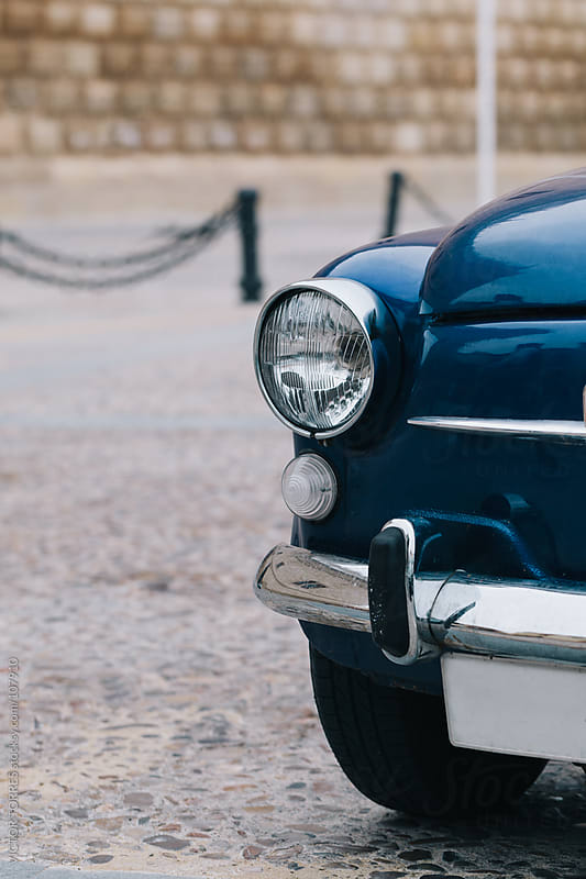 Old Classic Car Detail by VICTOR TORRES for Stocksy United